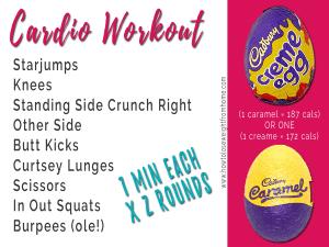 Easter Egg workout caramel