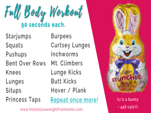 Easter Egg workout crunchie