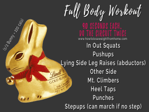 Easter Egg workout - lidnt bunny